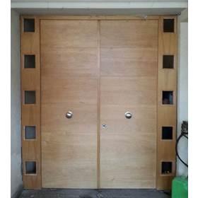 puerta de seguridad doble