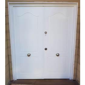 puerta de seguridad pintada doble
