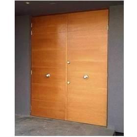 puerta blindada doble de garage