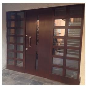 puerta blindada doble y ventanas
