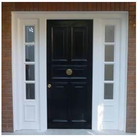 puerta de seguridad con marco