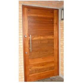 puerta para casa de acero y madera
