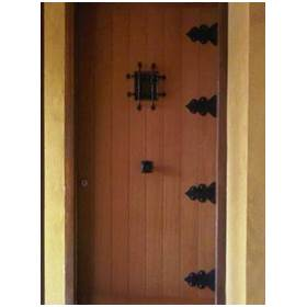 puerta blindada rústica