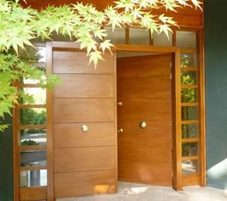 Puerta antirrobos de acero doble con ventanillas